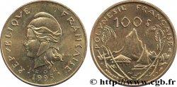 FRENCH POLYNESIA 100 Francs I.E.O.M Marianne / Paysage polynésien 1995 Paris MS