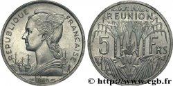 ÎLE DE LA RÉUNION 5 Francs Marianne / canne à sucre 1955 Paris SUP