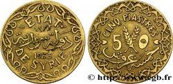 SYRIA - THIRD REPUBLIC 5 Piastres État de Syrie variété avec différents 1933 Paris XF
