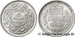 TUNISIE - PROTECTORAT FRANÇAIS 5 Francs AH 1358 1939 Paris FDC