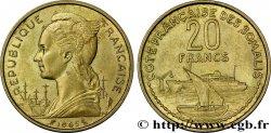 CÔTE FRANÇAISE DES SOMALIS 20 Francs 1965 Paris SUP
