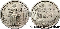 FRENCH POLYNESIA - French Oceania Essai de 2 Francs Établissements français de l'Océanie 1949 Paris MS