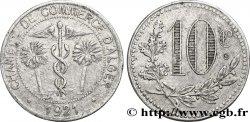 ARGELIA 10 Centimes Chambre de Commerce d'Alger caducéee netre deux palmiers 1921