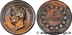 FRENCH COLONIES - Louis-Philippe for Guadeloupe 5 CentimesLouis Philippe Ier 1839 Paris - A VF