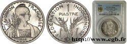 INDOCHINE FRANÇAISE 1 Piastre ESSAI Fédération Indochinoise 1946 Paris SPL PCGS 64