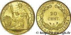FRENCH INDOCHINA Essai bronze 20 Centièmes 1928 Paris MS