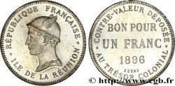 ÎLE DE LA RÉUNION Essai de 1 Franc frappe médaille 1896 Paris FDC