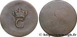 COLONIAS FRANCESAS - LOUIS XVI 1 Sol Tampé ou Estampé (sous marqué) 1er type N.D.  MBC