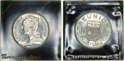 ÎLE DE LA RÉUNION Essai 50 francs 1962 Paris FDC