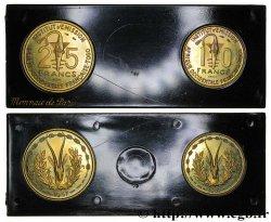 FRENCH WEST AFRICA - TOGO Boîte d'essais de 10 et 25 Francs ESSAI 1957 Paris MS
