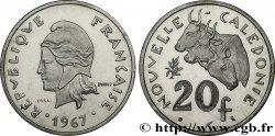 NOUVELLE CALÉDONIE Essai de 20 Francs 1967 Paris FDC