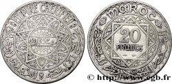 MAROC - PROTECTORAT FRANÇAIS 20 Francs AH 1352 1933 Paris TTB