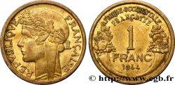 AFRIQUE OCCIDENTALE FRANÇAISE 1 Franc Morlon 1944 Londres SUP
