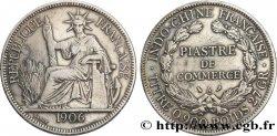 FRENCH INDOCHINA 1 Piastre de Commerce 1906 Paris VF