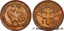 FRENCH EQUATORIAL AFRICA - FREE FRENCH FORCES 1 Franc 1943 Prétoria AU