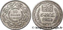 TUNISIE - PROTECTORAT FRANCAIS 10 Francs au nom du Bey Ahmed an 1361 1942 Paris
