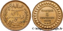 TUNEZ - Protectorado Frances 5 Centimes AH1322 1904 Paris