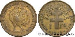 AFRIQUE ÉQUATORIALE FRANÇAISE - FRANCE LIBRE 1 Franc Afrique Equatoriale Française libre 1942 Prétoria TB+