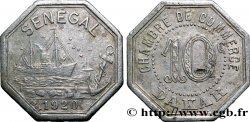 AFRIQUE FRANÇAISE - SÉNÉGAL 10 Centimes Chambre de Commerce Dakar 1920  TTB+