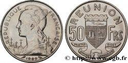 REUNION ISLAND 50 Francs / armes de Saint Denis de la Réunion 1969 Paris AU