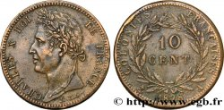 FRENCH COLONIES - Charles X, for Guyana 10 Centimes Charles X 1828 Paris - A