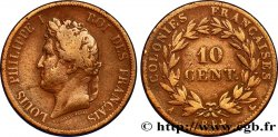 FRENCH COLONIES - Louis-Philippe, for Marquesas Islands 10 Centimes Louis-Philippe 1844 Paris
