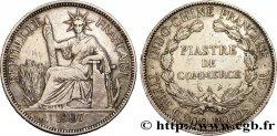 FRENCH INDOCHINA 1 Piastre de Commerce 1907 Paris VF