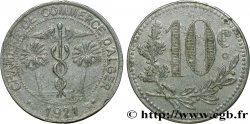 ALGÉRIE 10 Centimes Chambre de Commerce d'Alger caducéee netre deux palmiers 1921  TTB