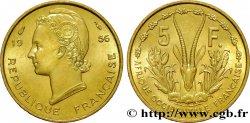 FRENCH WEST AFRICA 5 Francs Marianne / antilope 1956 Paris MS
