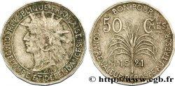GUADELOUPE Bon pour 50 Centimes indien caraïbe / canne à sucre 1921  TTB