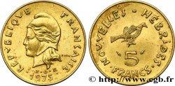 NOUVELLES HÉBRIDES (VANUATU depuis 1980) 5 Francs 1975 Paris SUP