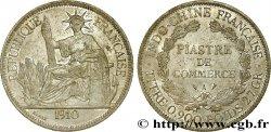 FRENCH INDOCHINA 1 Piastre de Commerce 1910 Paris AU