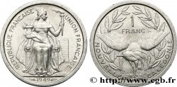 NEW CALEDONIA 1 Franc Union Française 1949 Paris MS