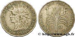 GUADELOUPE Bon pour 1 Franc indien caraïbe / canne à sucre 1903  TB+
