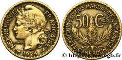 CAMEROUN - TERRITOIRES SOUS MANDAT FRANÇAIS 50 Centimes 1924 Paris TTB