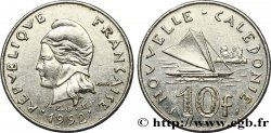 NOUVELLE CALÉDONIE 10 Francs I.E.O.M. Marianne / paysage maritime néo-calédonien avec pirogue à voile 1992 Paris SUP