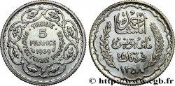 TUNISIE - PROTECTORAT FRANÇAIS 5 Francs AH 1358 1939 Paris TTB+