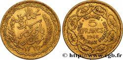 TUNISIA - Protettorato Francese 5 Francs AH1365 1946 Paris SPL