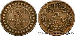 TUNISIE - PROTECTORAT FRANÇAIS 10 Centimes AH1326 1908 Paris TTB
