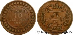 TUNISIE - PROTECTORAT FRANÇAIS 10 Centimes AH1329 1911 Paris TB+