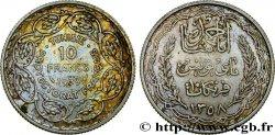 TUNISIE - PROTECTORAT FRANÇAIS 10 Francs au nom du Bey Ahmed an 1358 1939 Paris SUP