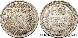 TUNISIA - French protectorate 10 Francs au nom du Bey Ahmed datée 1353 1934 Paris AU