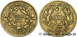 TUNISIE - PROTECTORAT FRANÇAIS Bon pour 2 Francs sans le nom du Bey AH1340 1921 Paris TTB