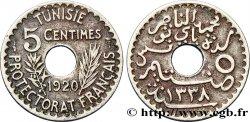 TUNISIA - French protectorate 5 Centimes AH1339 1920 Paris AU