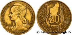 MADAGASCAR - UNION FRANCESE 20 Francs 1953 Paris BB