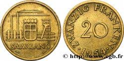 SARRE 20 Franken 1954 Paris EBC