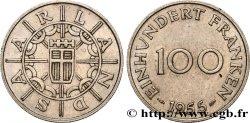 TERRITOIRE DE LA SARRE 100 Franken 1955 Paris SUP