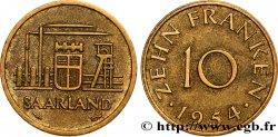 TERRITOIRE DE LA SARRE 10 Franken 1954 Paris SUP