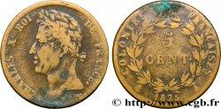 COLONIES FRANÇAISES - Charles X, pour la Guyane et le Sénégal 5 CentimesCharles X 1825 Paris - A TB