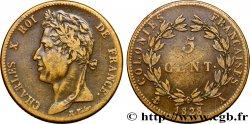 COLONIES FRANÇAISES - Charles X, pour la Guyane 5 CentimesCharles X 1828 Paris - A TB+